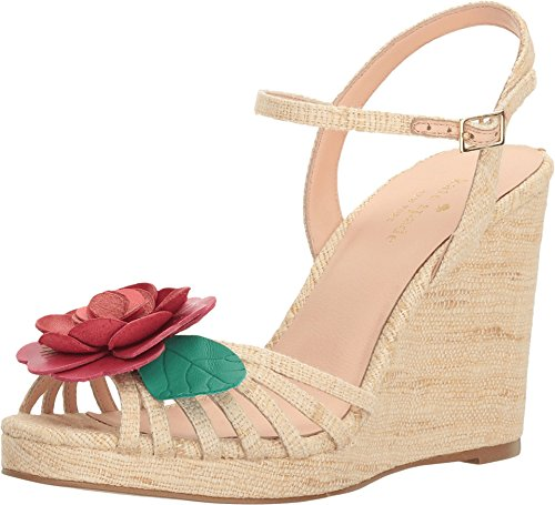 Kate Spade New York Donna Beekman Espadrillas Sandalo Con Zeppa In Seta Grezza Naturale