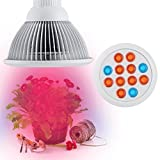 Firlar LED Grow Light bulb, Lemontec High Efficient Hydroponic Plant Grow Lights system for Garden Greenhouse and Hydroponic Aquatic,12W
