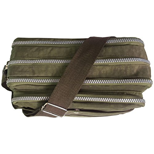 TM HAND CROSS TRAVEL ROCKJOCK PARIELLA by BAG BODY SHOULDER MULTI POCKET WOMENS Olive CASUAL LADIES 8EESv