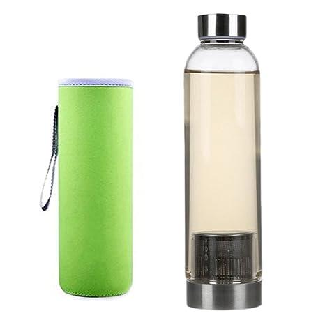Elegante botella de té de cristal, de 550 ml de capacidad ...
