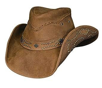 Bullhide Women's Hidden Pleasure Leather Hat - 4023 - Brown - Small