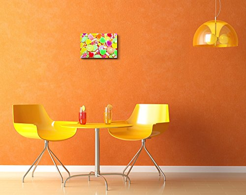 Colorful Candy Sweets on a Background Wall Decor