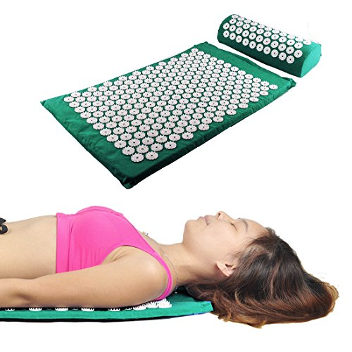 Hi Suyi Acupressure Set Massage Mat And Pillow Bed Of