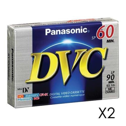 Panasonic AYDVM60EJ2 Mini Digital Video Cassette (60 min, 2 Pack)