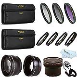 Fisheye Lens Kit For CANON VIXIA HF R82 HF R80 HF R800, HF R700, HF R72, HF R70 Camcorder Includes 0.16x Fisheye lens + Wide Angle Lens + 2x Telephoto Lens + 3PC Filter Kit + Close Up Kit +1 +2 +4 +10