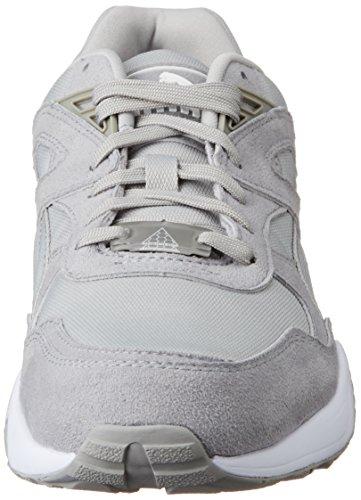 Puma Men's R698 Hi-Top Sneakers, Black Gris (Drizzle/White)