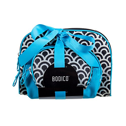 Bodico, 3-pc Cosmetic Bag set, 18 inches, Blue