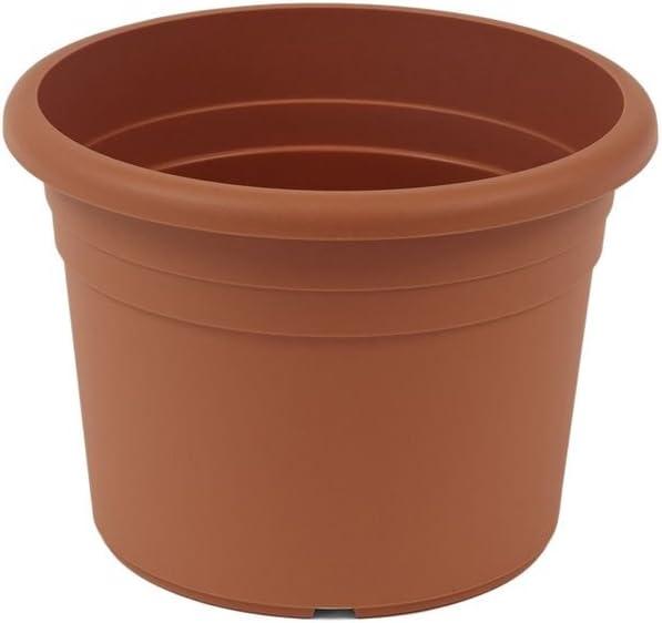 greemotion Small Garden Pots Fiona - Flower Pot - Plant Pot - Plastic Plant Pot - 15 cm Flower Pot - Round Plastic Plant Pot - Garden Planter - Terracotta Flower Pots