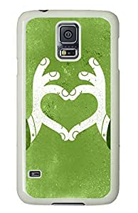 Samsung S5 sale cases Cartoon Hand Love Heart PC White Custom Samsung Galaxy S5 Case Cover by icecream design