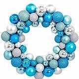 Garland Christmas Decorations, Inkach Xmas Balls Hanging Wreath Ornament Door Wall Home Garlands (Blue)
