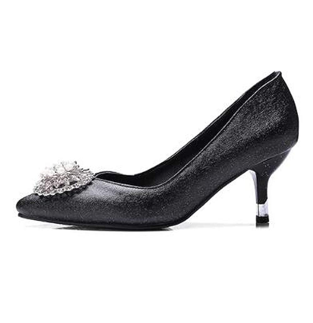 HLG Die hochhackigen Schuhe Schuhe Schuhe der Frauen schließen Zeh klassische Mary Jane Gerichtshochzeitspumpen ab 8fc25a