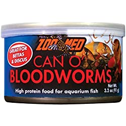 Zoo Med 78065 Can O' Bloodworms, 3.2 oz