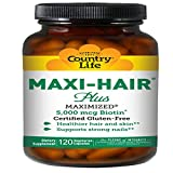 Country Life Maxi Hair Plus 5,000 mcg Biotin 120 VegiCaps (Pack of 3)