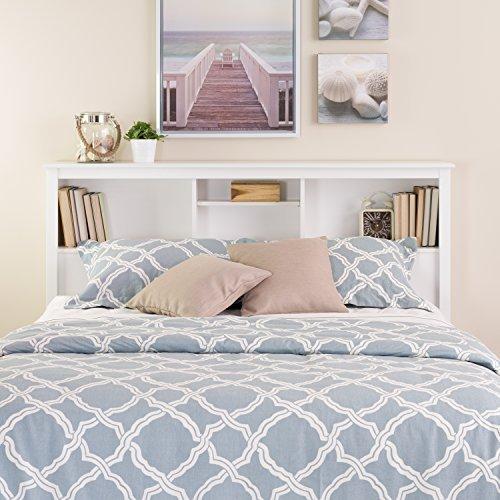 white full queen bookcase headboard - Bookshelf Bed Frame