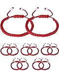 Gejoy 12 Pieces Handmade Kabbalah Red String