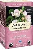 Numi Organic Tea White Rose, 16 Count Box of Tea Bags (Pack of 3) White Tea