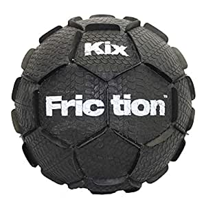 KixFriction Street Soccer Ball by 1GKUSA - Top Physical Education Training & Great Freestyle Soccer Ball (Black, Size 4)