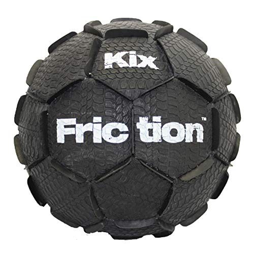 KixFriction Street Soccer Ball by 1GKUSA - Top Physical Education Training & Great Freestyle Soccer Ball (Black, Size 4) (Best Freestyle Soccer Ball)