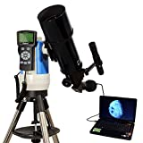 Black 80mm Computer Controlled Refractor Telescope with 3MP Digital USB Camera