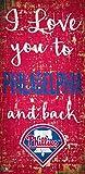 Fan Creations MLB Philadelphia Phillies I Love You to Signphiladelphia Phillies I Love You to Sign, Team, One Sizes