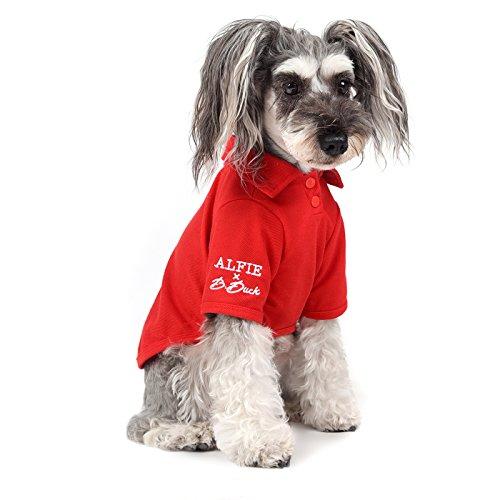 Jason Designer (Alfie x B.Duck - Jason Solid Color Polo Shirt - Color: Red, Size: Large)