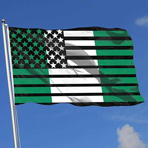 American Nigerian Flag Banner Flag Demonstration Flag Outdoor Garden Flag 3'X5' House Banner