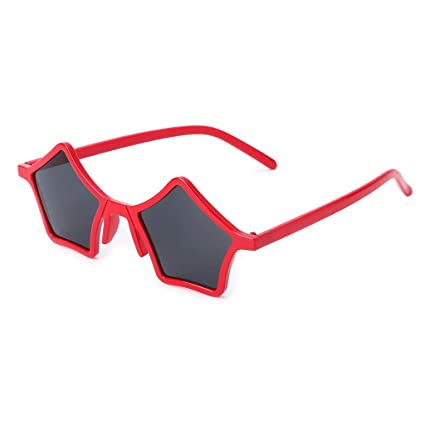 Amazon.com: Hukai Vintage Fashion Star - Gafas de sol con ...