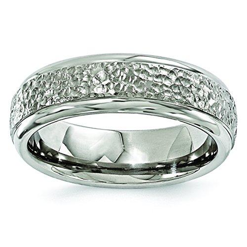 Diamond2Deal Edward Mirell Titanium 7mm Miligrain Wedding Band Ring ()