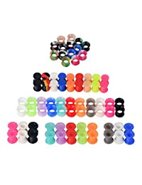 D&M Jewelry 58/76pcs Mixed Camouflage Colorful Silicone Tunnel Plug Expander Piercing
