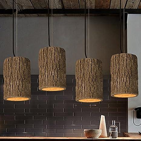 Amazon.com: Retro Loft estilo nórdico Stump cemento colgante ...