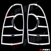 A-PADS 2 Chrome Tail Light Covers for Toyota TACOMA 2005-2015 - Rear Back Lights Cover Pair Taillight Outline Trim