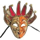 ZjpMask Full Face Venetian Jester Mask Masquerade Mardi Gras Wall Decorative Art Collection