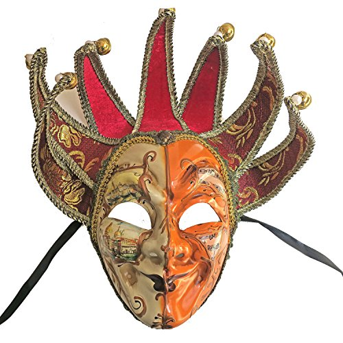 ZjpMask Full Face Venetian Jester Mask Masquerade Mardi Gras Wall Decorative Art ()
