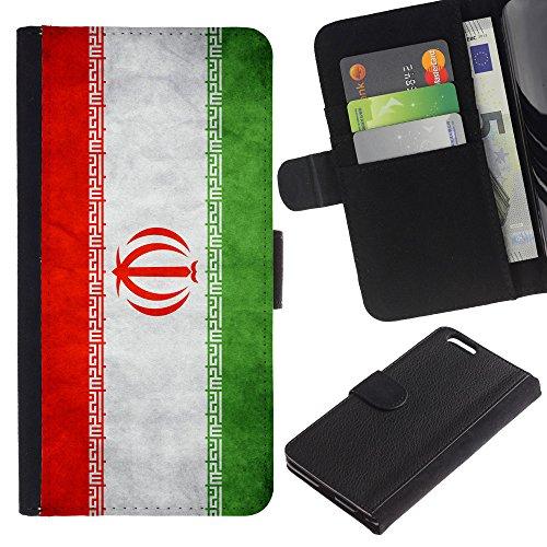 EuroCase - Apple Iphone 6 PLUS 5.5 - Iran Grunge Flag - Cuir PU Coverture Shell Armure Coque Coq Cas Etui Housse Case Cover