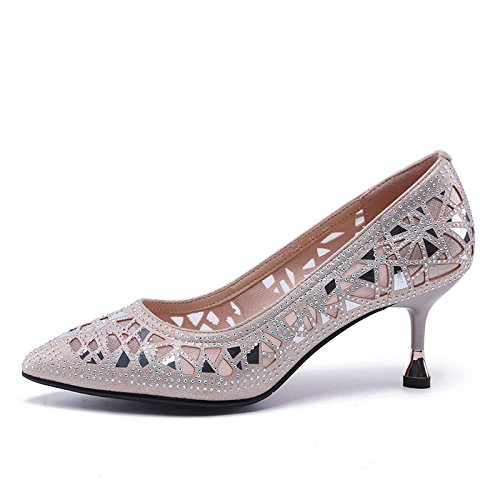 Jqdyl High Heels Heels Heels Damenschuhe Elegant High Heels Fein Heels Aushöhlen Asakus Tipps 520ee4