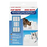 Pet Mate Genuine Replacement Filter Cartridges for use with Cat Mate and Dog Mate Pet Fountains – Pack of 6