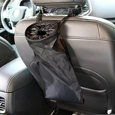 IPELY Car Vehicle Back Seat Headrest Litter Trash Garbage Bag (Black): Automotive