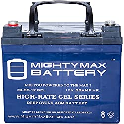 12V 35Ah GEL Battery Replaces JohnDeere Lawn Tractor-Riding Mower 108 - Mighty Max Battery brand product