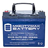 Mighty Max Battery 12V 35AH GEL Battery Replaces U1-36NE w/Nut and Bolt Terminal brand product