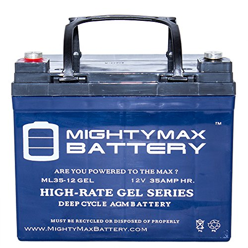 Mighty Max Battery 12V 35AH GEL Battery for Stand-Aid Power Drive Wheelchair brand product by Mighty Max Battery