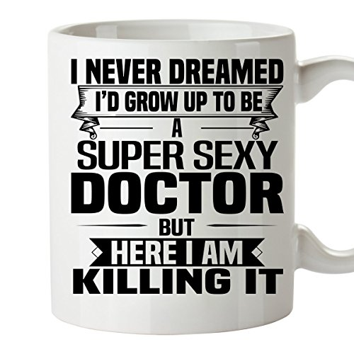 Super Sexy DOCTOR Mug - Funny and Pround Gift - Unique Coffee Mug, 11 Oz Coffee Cup - Dr Horrible Costume Gloves