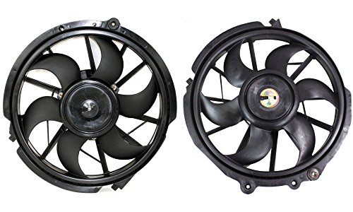 Evan-Fischer EVA24572058780 New Direct Fit Radiator Fan Assembly Set of 2 Single Fan Plastic With Blade, Motor, and Shroud