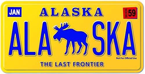 JC Alaska License Plate