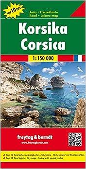Corsica Road Maps FreytagBerndt und Artaria 9783707905823
