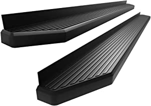 APS iBoard 6-inch Aluminum (Black Flat Style) Running Boards Nerf Bars Side Steps Step Rails Compatible with 2019-2020 Dodge Ram 1500 Quad Cab Pickup for New Body Style Only (Will Not Fit 2018 Model)