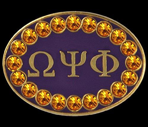 - Omega Psi Phi 1'' Cuff Links W/stones