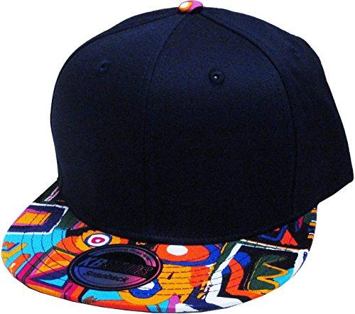 KBETHOS NW-1468AZ AZTEC Snapback Baseball Cap - NAV - Nav Accessory
