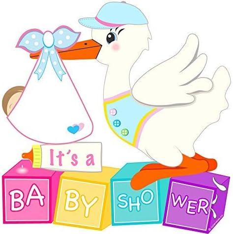 Amazon Com Cute News Outdoor Baby Shower Stork Yard Sign Kit Gender Neutral Lawn Decoration Baby Sleeping Door Holder Newborn Birth Announcement Art Boy Or Girl Garden Outdoor