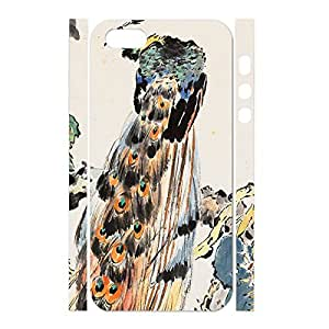 Customized Durable Peacock Feather Antiproof Hard Plastic Case Cover Skin for Iphone 5/5s Case