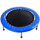Giantex 38'' Mini Rebounder Trampoline with Padding & Springs Elastic Safe Outdoor Indoor Exercise Fitness Workout